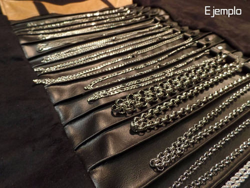 paño exhibidor cadenas grande joyas terciopelo y ecocuero