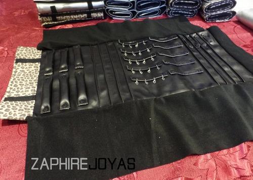 paño multi exhibidor joyas (70x32cm) terciopelo y ecocuero
