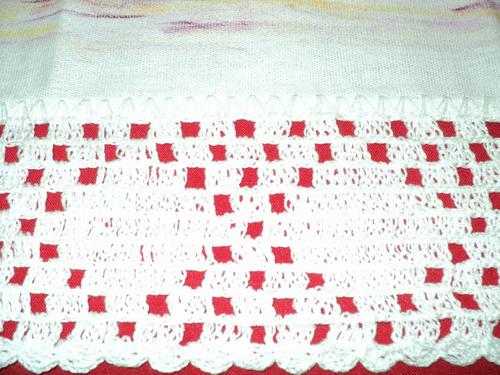 pano  prato chapeu lilas com croche - pp012
