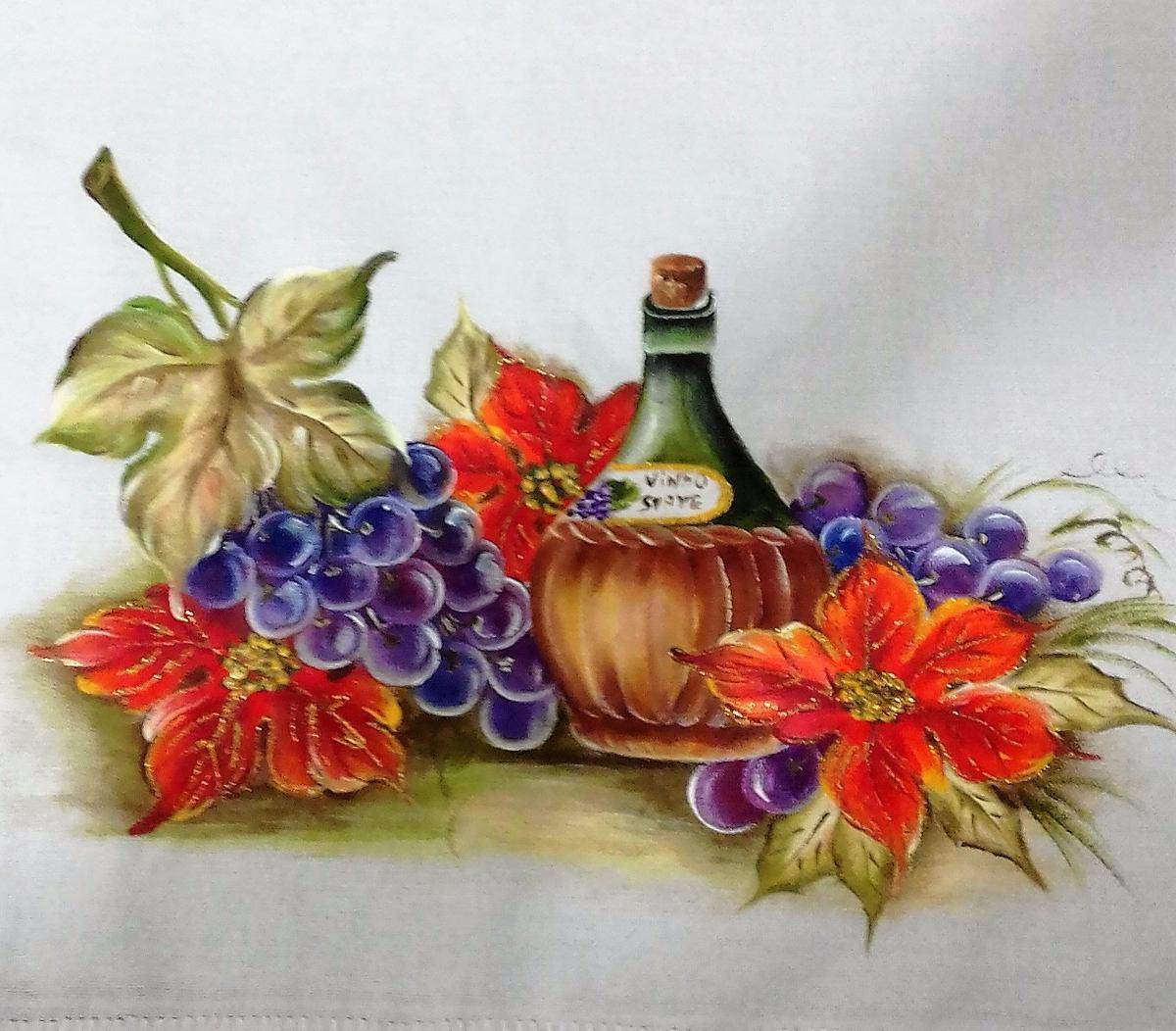 Conjunto Cozinha Pintado A Mao E Croche No Mercado Livre Brasil -> Tapete De Sala Pintado A Mao