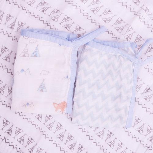 pano toalha de boca fralda super absorvente macia 6 unidades