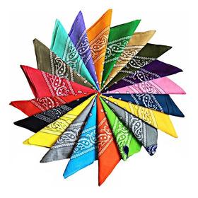Pañoleta Bandana Estampada Algodón Grande Colores 52cm