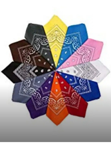 pañoletas bandanas 100%  set de 10 unidades envio gratis