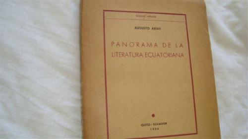 panorama de la literatura ecuatoriana por augusto arias