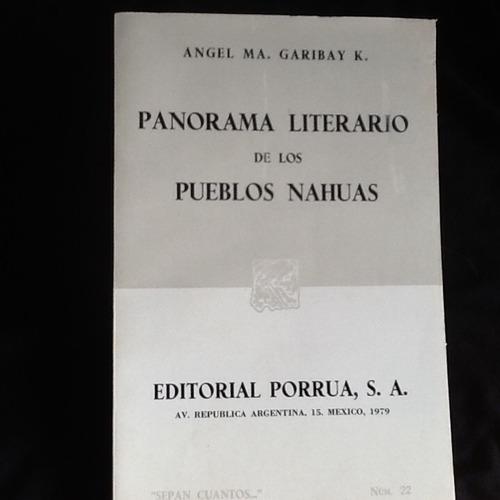 panorama literario de los pueblos nahuas - angel garibay