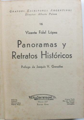 panoramas y retratos históricos / vicente lópez