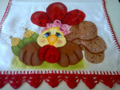panos de pratos pintados