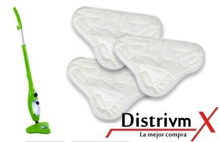 paños microfibra 3 repuesto mopa vapor almohadillas piso vmx