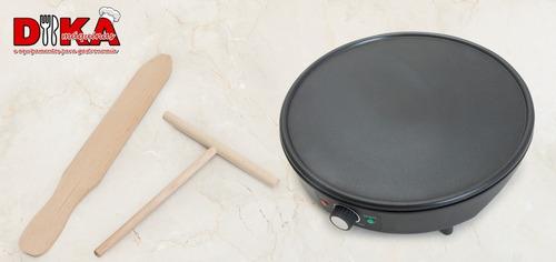 panquequeira elétrica crepe francês tapioca teflon 110v