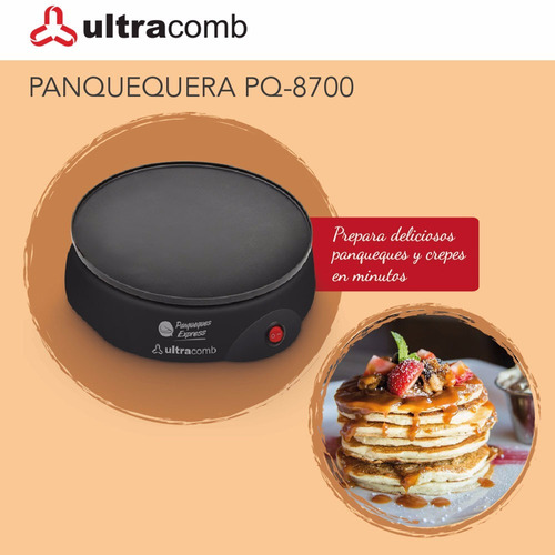 panquequera eléctrica ultracomb pq-8700 700w 23cm pc