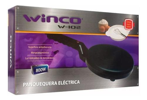 panquequera electrica winco 800w antiadherente +batidor+bowl