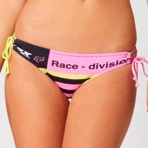 pantaleta bikini fox racing intake mujer anudado costado md
