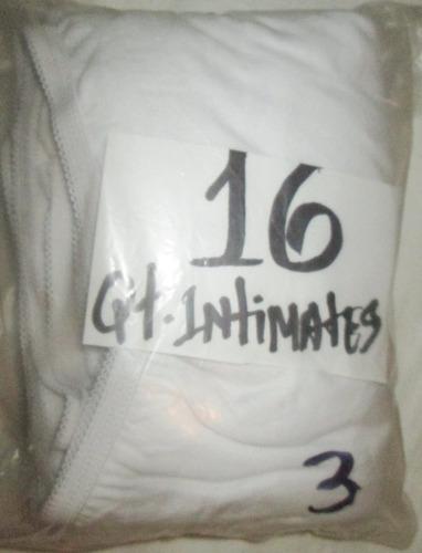 pantaletas blancas corte completo talla 16 (54/56) qt. inti