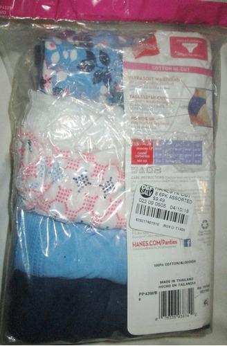 pantaletas colores  algodon hi cut tallas 8 hanes