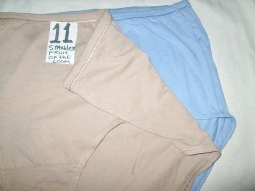 pantaletas corte completo,con spandex talla plus 11 (42/ 44)