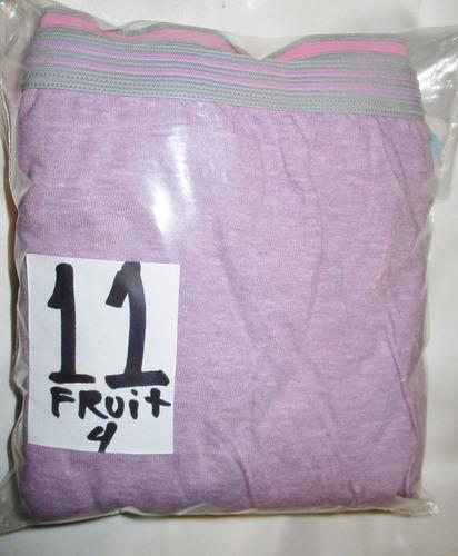 pantaletas de colores corte completo talla 11 fruit of the