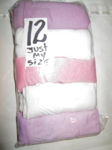 pantaletas lila algodon  corte completo talla 12 just my siz