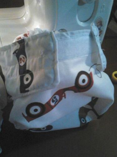 pantaletas plasticas con tela de diseños para bebes