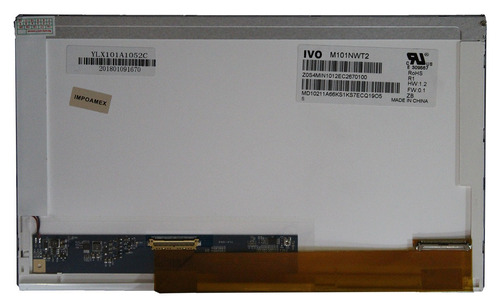 pantalla 10.1 led derecho hp mini  110-102la 2140
