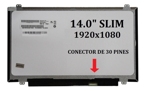 pantalla 14.0 slim 30 pines 1920x1080 lp140wf1(sp)(j1)