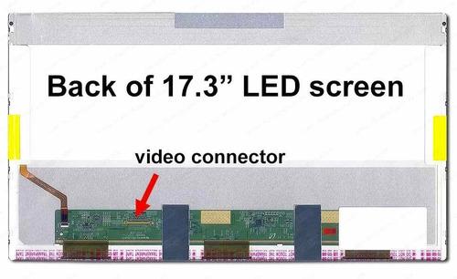 pantalla 17,3 led 40 pins 1600x900 instalada