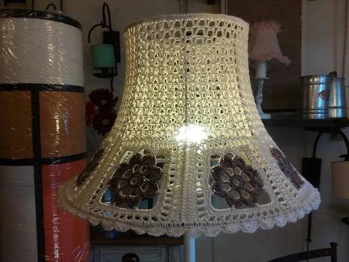 pantalla artesanal americana en crochet,fabrica,iluminacion