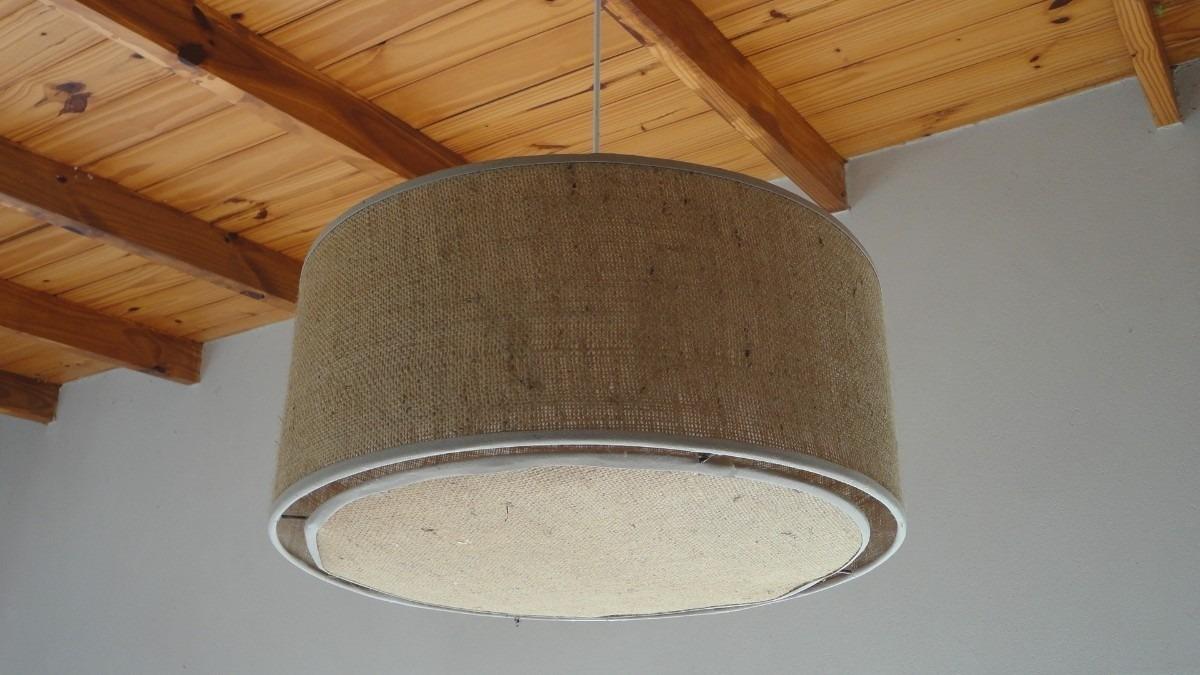 Pantalla artesanal arpillera fabrica colgantes iluminacion - Lamparas exteriores modernas ...