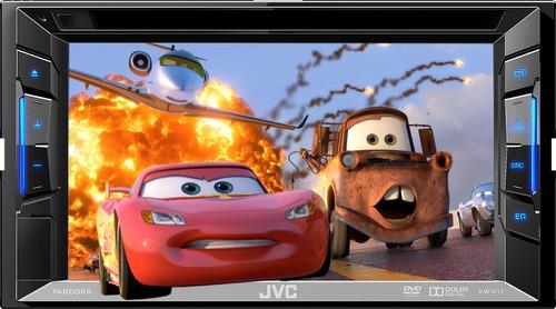 pantalla autoestereo dvd jvc kw-v11 iphod touch usb rca 6.2
