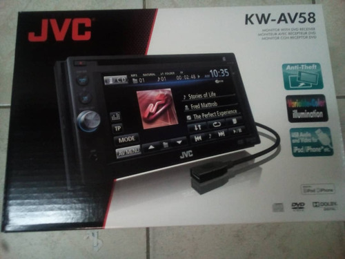 pantalla cd dvd usb doble din 6.1 touch jvc