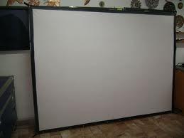 pantalla colgante  de videoproyeccion mod tl 100 de 2x1.5m.