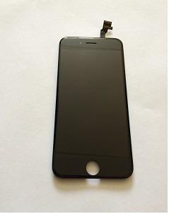 pantalla completa iphone 6 negra-blanca instalada