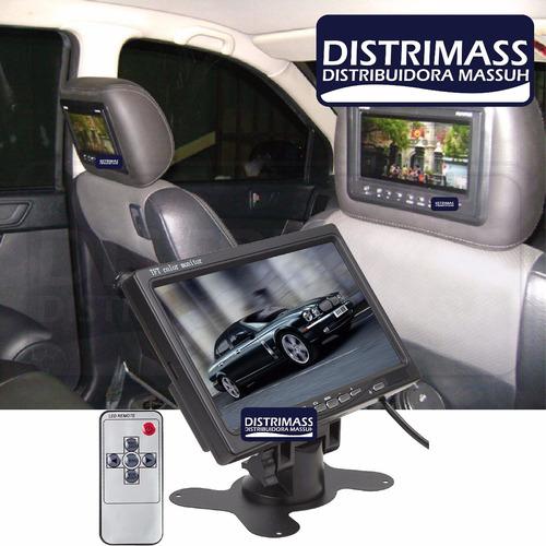 pantalla con base o empotrable a cabeceras para carro