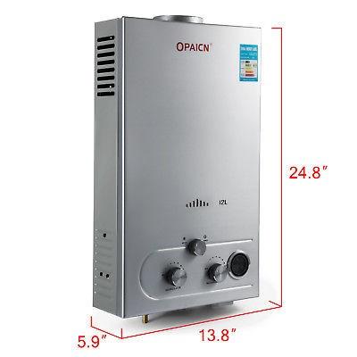 pantalla de lcd de 12l gas natural agua caliente calentador
