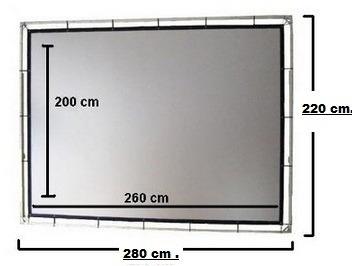 pantalla de proyeccion 2 medidas 2.5x2 y 2x1.5 envio gratis