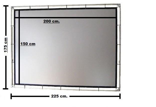 Pantalla de proyeccion 2 medidas y 2x1 5 envio - Medidas de monitores para pc ...