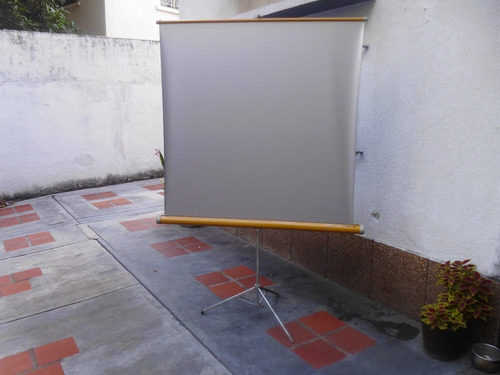 pantalla de proyección 80 pulgs con tripode (portatil)