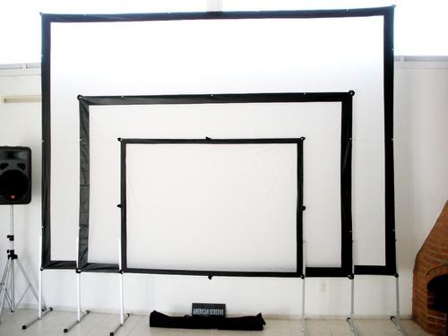 pantalla de proyeccion dual tl200 4x3 american screens