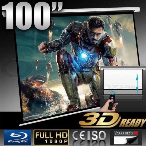 pantalla de proyeccion electrica 100 pulgadas 16:9