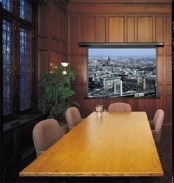 pantalla de proyección eléctrica 100 pulgadas pared / techo.