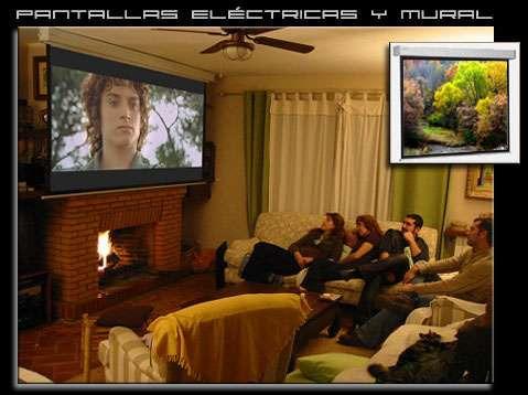 pantalla de proyeccion electrica 280cm x 210cm