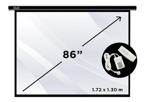 pantalla de proyeccion eléctrica klip kps-501 86'' 172x130cm
