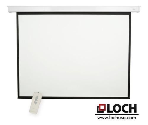 pantalla de proyeccion electrica loch es120 252x191cm 120''