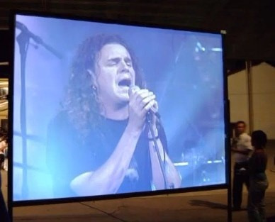pantalla de proyección fast fold (pantalla gigante)