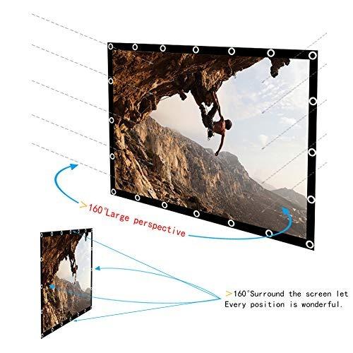 pantalla de proyector de 100 pulgadas 16: 9 hd versión mejor