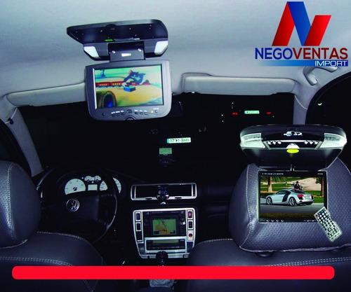 pantalla de techo dvd 9  con lector usb sd tv control remoto