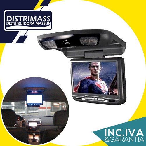 pantalla de techo reproductor dvd tv videojuegos, 9 pulgadas