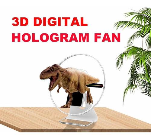 pantalla de ventilador de holograma d proyector de publ...