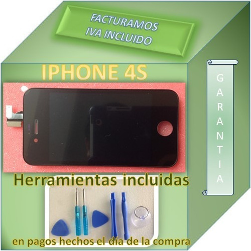 pantalla display iphone 4s touch mas digitalizador negro fn4