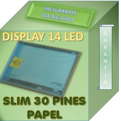 pantalla display led 14 led 30 pines compatible  e1-432-c661