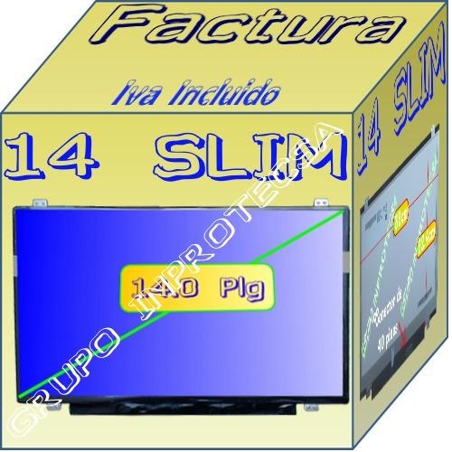 pantalla display led 14 slim compatible con b140xtn03.0